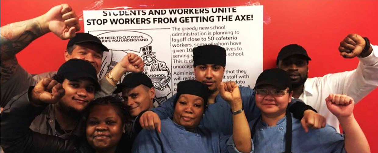 Unite!Here Local 100 New School workers strike